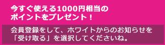 会員登録で200円相当のポイントプレゼント